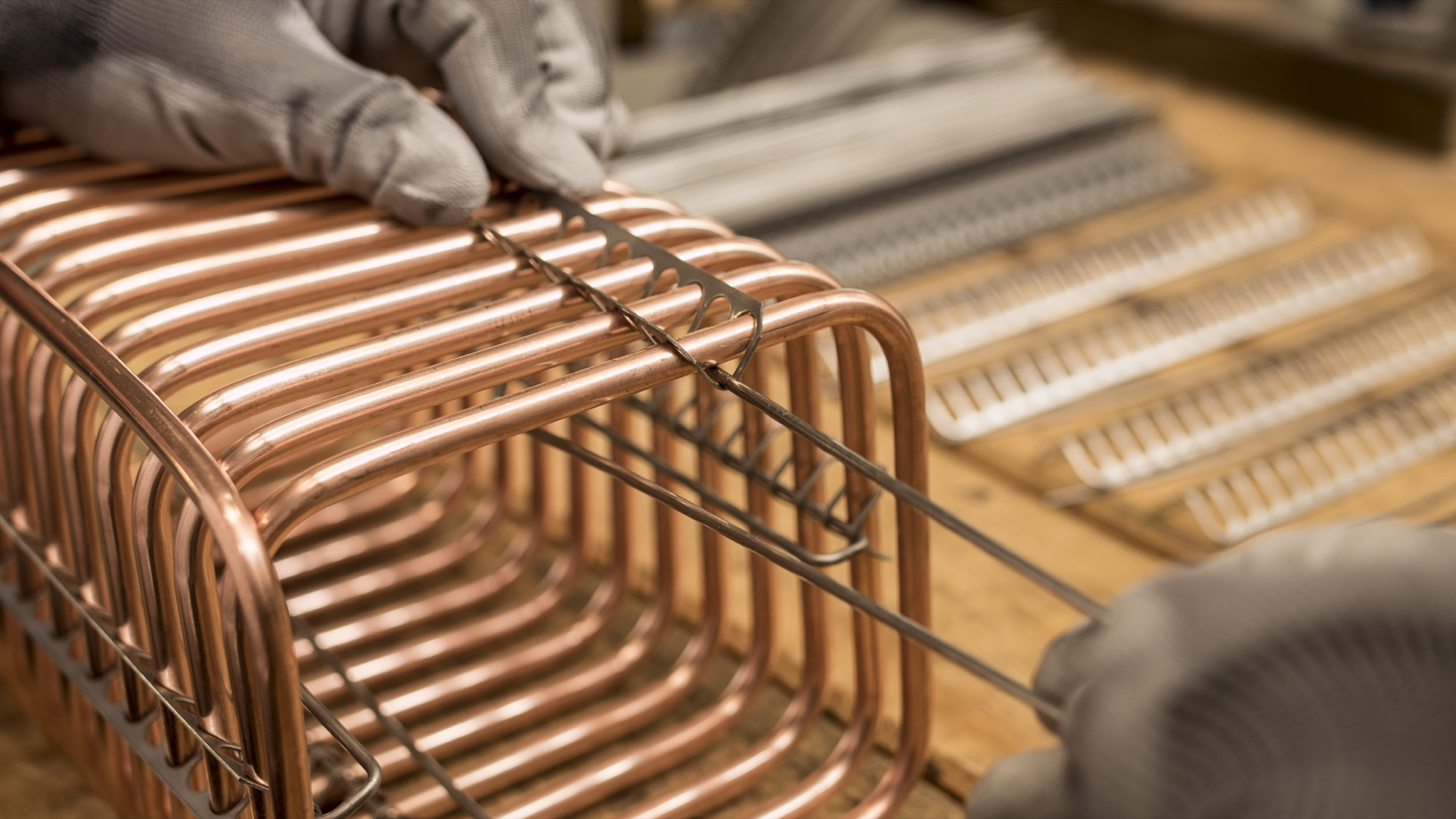 copper coil, assembling stainless steel spacer